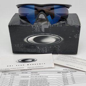 Oakley Custom M Frame Jet Black Frame Ice Iridium Hybrid Lens Sunglasses w/ Box